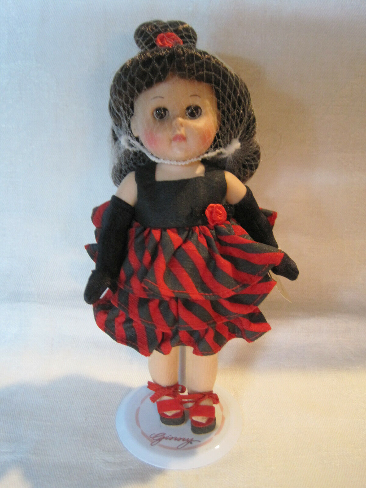 """Vogue Hi I'm Ginny 8"""" modern doll with stand"""