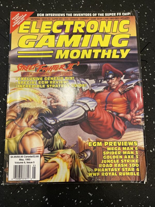 Electronic Gaming Monthly Street Fighter II May 1993