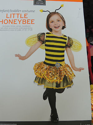 NWT Girls Size 2T - 3T  * LITTLE HONEYBEE *  Halloween Costume Bumble - Little Bumble Bee Infant Toddler Halloween Costume