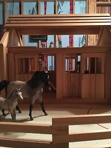 KidKraft wooden stable and coral with Breyer horses St. John's Newfoundland image 1