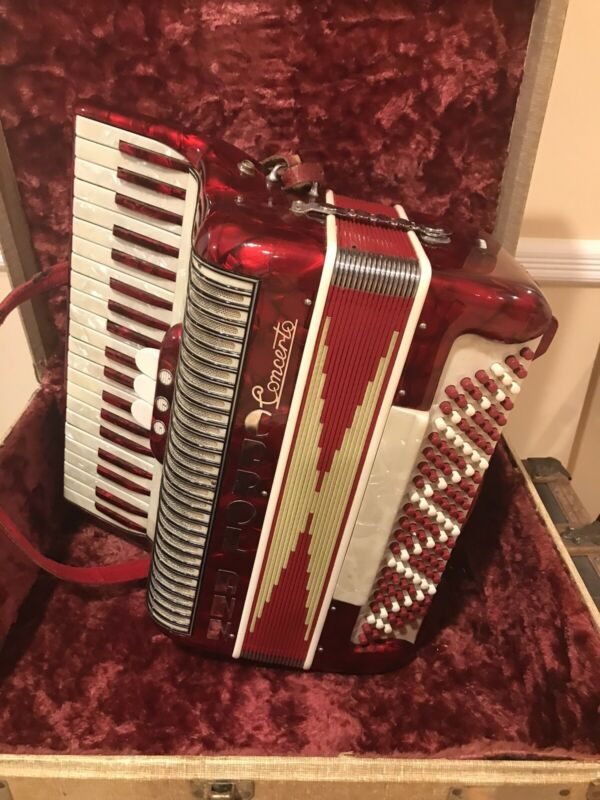 Vintage Marotta  Accordion Ruby Red Concerto model