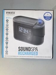 Homedics SS5080 Sound Spa Recharged W/8 Nature Sounds Projection Alarm Clock
