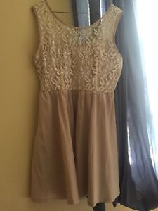 Women's dress Lg, champagne colour