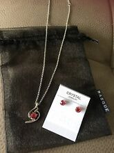 Brand New in gift pouch Basque Necklace & Earrings Set Bondi Junction Eastern Suburbs Preview