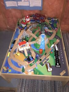 Train Set, Wooden, Includes Table