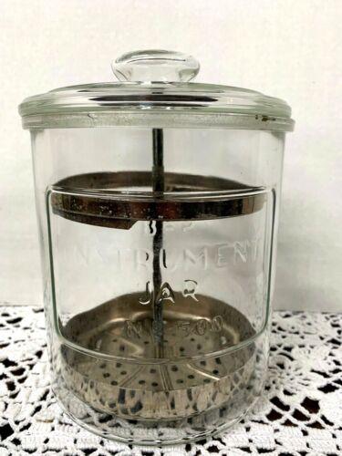 Vintage Antique Dental Medical Instruments Sterilizer Glass Jar  BP-500 Medicine