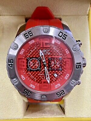 Invicta 21962 Pro Diver Stainless Steel Case Red Dial Men's Watch