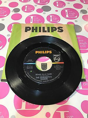 Serendipity Singers The, Beans In My Ears / Sailin' Away~PHILIPS 45 RPM 1964  (The Serendipity Singers Beans In My Ears)