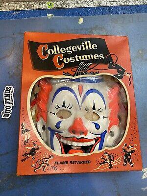 Vintage Collegeville Costumes Halloween Murder Clown Costume Complete w/Box