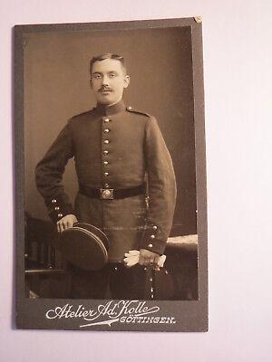 Göttingen - stehender Soldat in Uniform / CDV