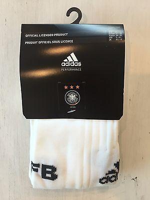 ADIDAS Fußball Stutzen Stutzenstrumpf Socken DFB Weiß NEU & OVP (Weiße Adidas Fußball Socken)
