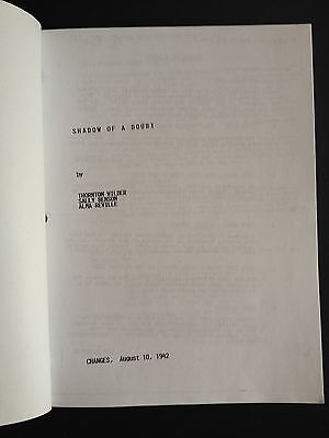 SHADOW of a DOUBT Alfred Hitchcock 1942 copy script dated; Aug. 10, 1942