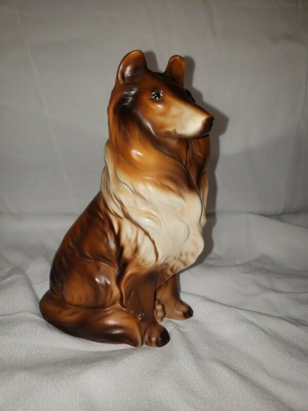 Vintage Lassie Collie Dog Ceramic Figurine 1950