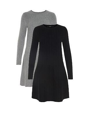 Vero Moda Strick-Kleid Pullover VMNancy Ls Knit Dress legere elegant sportlich