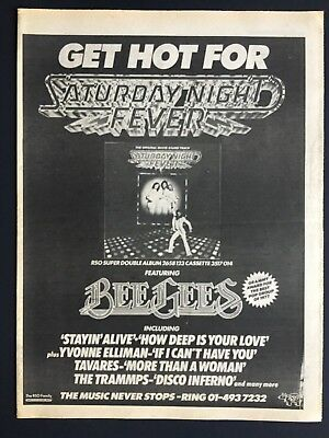 "The Bee Gees 1978 Original 13X17"" Promo Ad For ""Saturday Night Fever"""