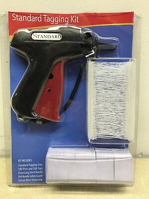Clothing Garment Price Label Standard Tagging Tag Gun Kit With Barbs Tags.