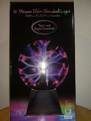 "Idea Nuova 6"" Plasma Globe Glassball Light"