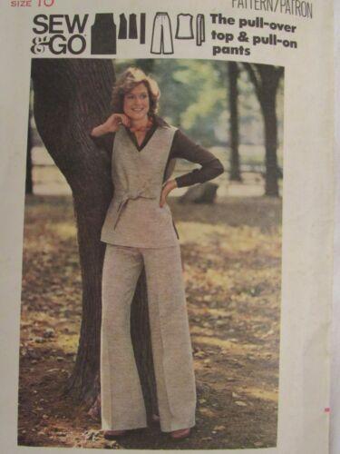 Lovely VTG 80s BUTTERICK 3484 Misses Pullover Top, Pants & Belt PATTERN 10/32.5B