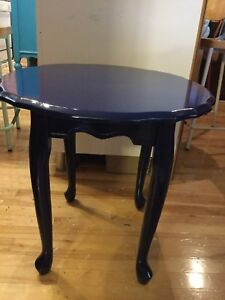 Assorted single side table - navy blue