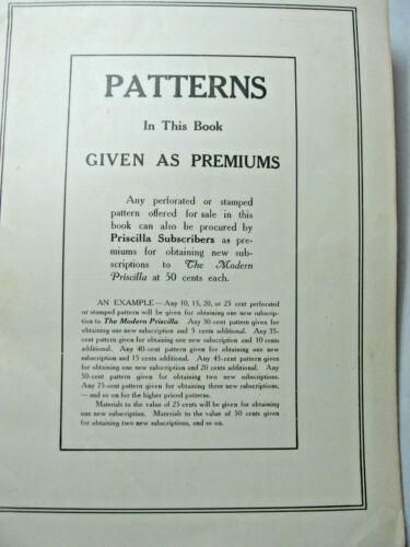 1907 Priscilla Embroideries Patterns Catalog