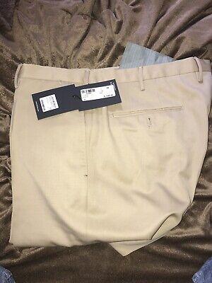 Incotex Slowear Brand Benson tan wool khaki pants flat front $645 sz 38  WOW