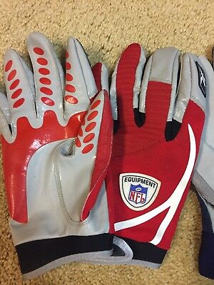 220657a8c NFL Equipment Receiver Gloves Issued By The New York Giants. Two Pairs.