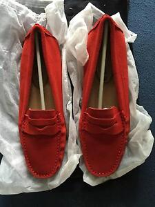 Beautiful DRIVING SHOES Gommino deep red SUEDE size 39/8 West End Brisbane South West Preview
