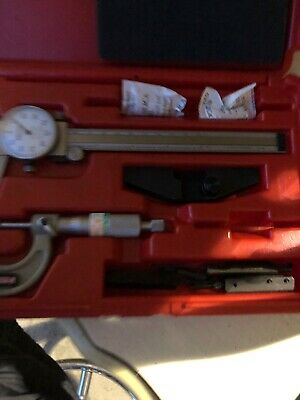 Mitutoyo 505-637-50 0-6 Range .001 Dial Caliper With Case With Spi 12-349-7
