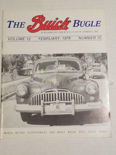 THE BUICK BUGLE MAGAZINE FEBRUARY 1978 vol. 12 #10