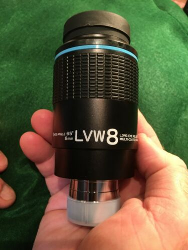 VIXEN 8 MM LVW EYEPIECE, DUAL 1.25 AND 2.00 INCH SIZE