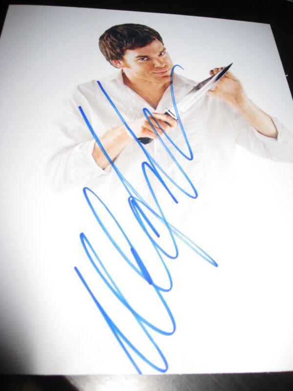 MICHAEL C HALL SIGNED 8x10 DEXTER PROMO PHOTO IN PERSON COA AUTO RARE PROOF NY N