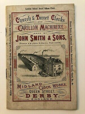 1904 Church & Turret Clocks & Carillon Machinery Advertising Booklet