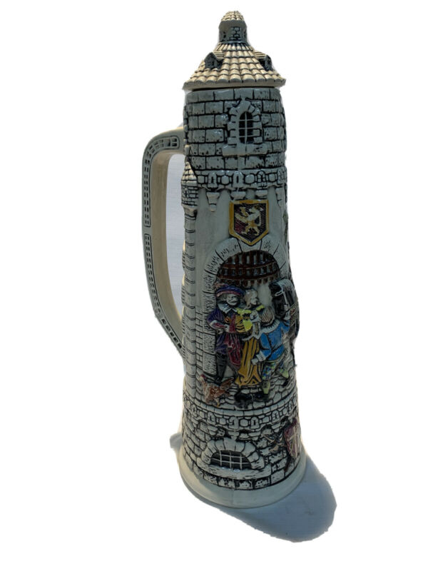 GERMAN BEER STEIN DECORATIVE 19 INCHES TALL UNBRANDED CASTLE SCENE