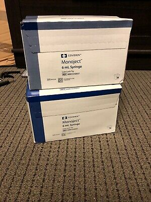 6cc 6ml Monoject Luer Lock Tip Plastic Syringes 50ct Box Lot Of 2 And Bonus 35