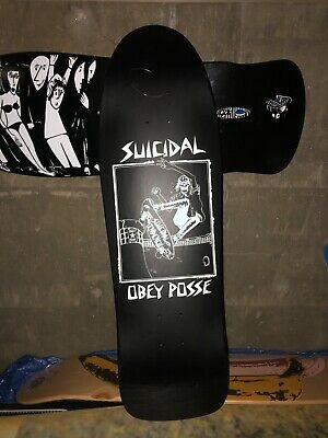 RARE OBEY X SUICIDAL TENDENCIES skateboard deck Lance Mountain Hosoi powell cruz