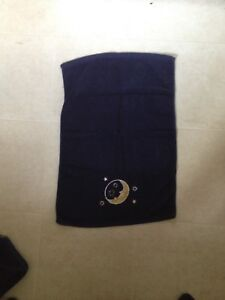 Set of 2 Dark Blue Moon Hand Towels