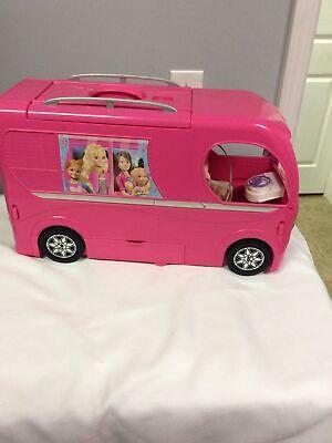 Mattel Barbie Dream Camper Pink RV Bus Home Van Motor Playset