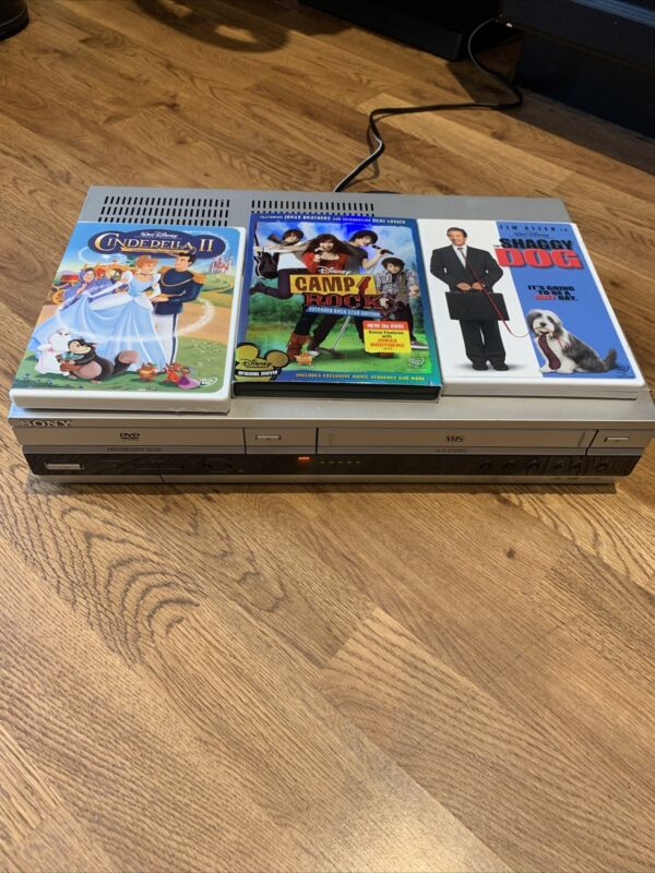 Sony SLV-D360P Combo DVD/VCR 4-Head VHS Player TESTED DISNEY MOVIE COMBO PACK!