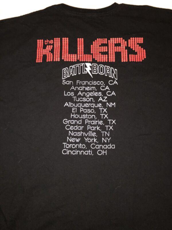 The killers battle born concert t shirt 2013 black large/extra large