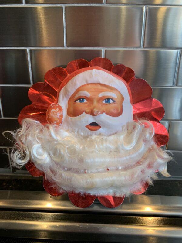 VINTAGE CHRISTMAS TREE TOPPER SANTA CLAUS RETRO COLLECTIBLE #2