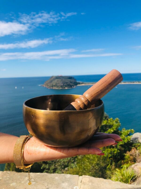 Handmade Tibetan Singing Bowl on Sale with Free Cushion & Mallet