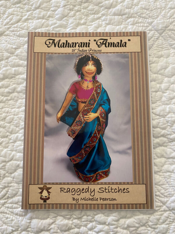 📒 Sewing Doll Pattern Maharani Amala Indian Princess Doll Toy