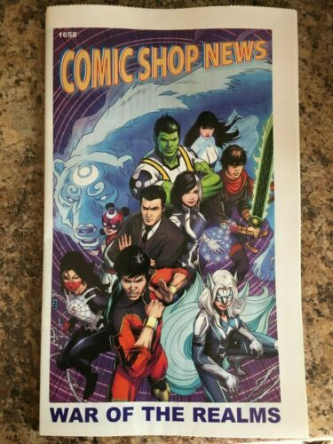 COMIC SHOP NEWS #1658 (2019) NM WAR OF THE REALMS, SPIDER-MAN COMIC STRIP