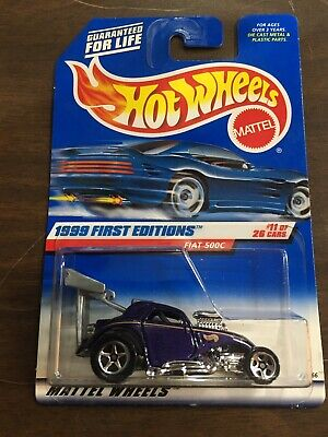 HOT WHEELS VHTF 1999 FIRST EDITIONS SERIES FIAT 500C Dragster Hot Rod
