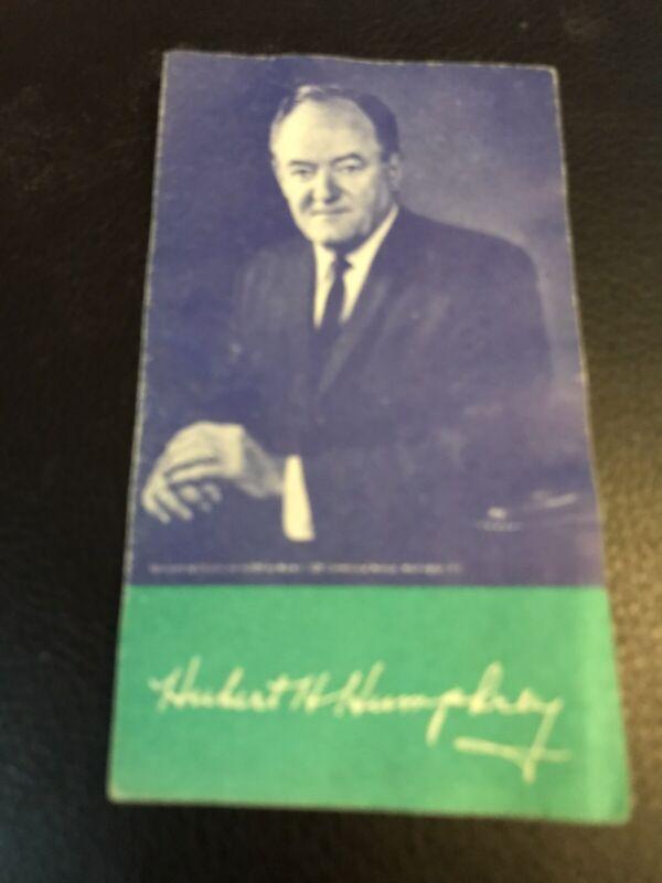 Presidential Hubert Humphrey Cleveland Browns Football 1968 Schedule Campaign