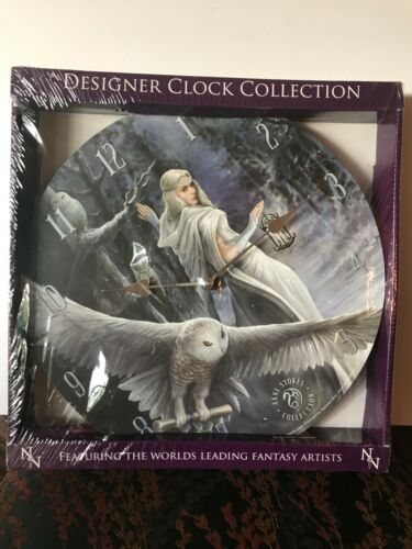Brand New Anne Stokes Collection Midnight Messenger Clock