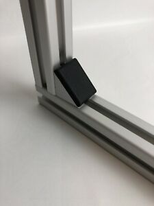 massiv 40x40 Nut 8 Winkel-Set Zink Blank