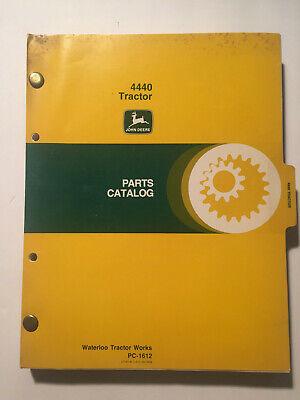 Original John Deere 4440 Farm Tractor Parts Catalog Book Pc-1612 Original 1977