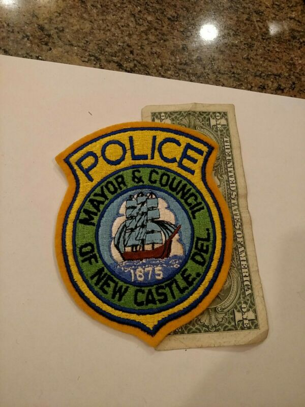 Mayor & Council Of New Castle Delaware Police Patch New Old Stock