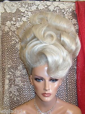 HALLOWEEN SPECIALS VEGAS GIRL WIGS  LOVELY UP DO ELEGANT BIG CURLS SLEEK WAVE - Vegas Halloween Girls